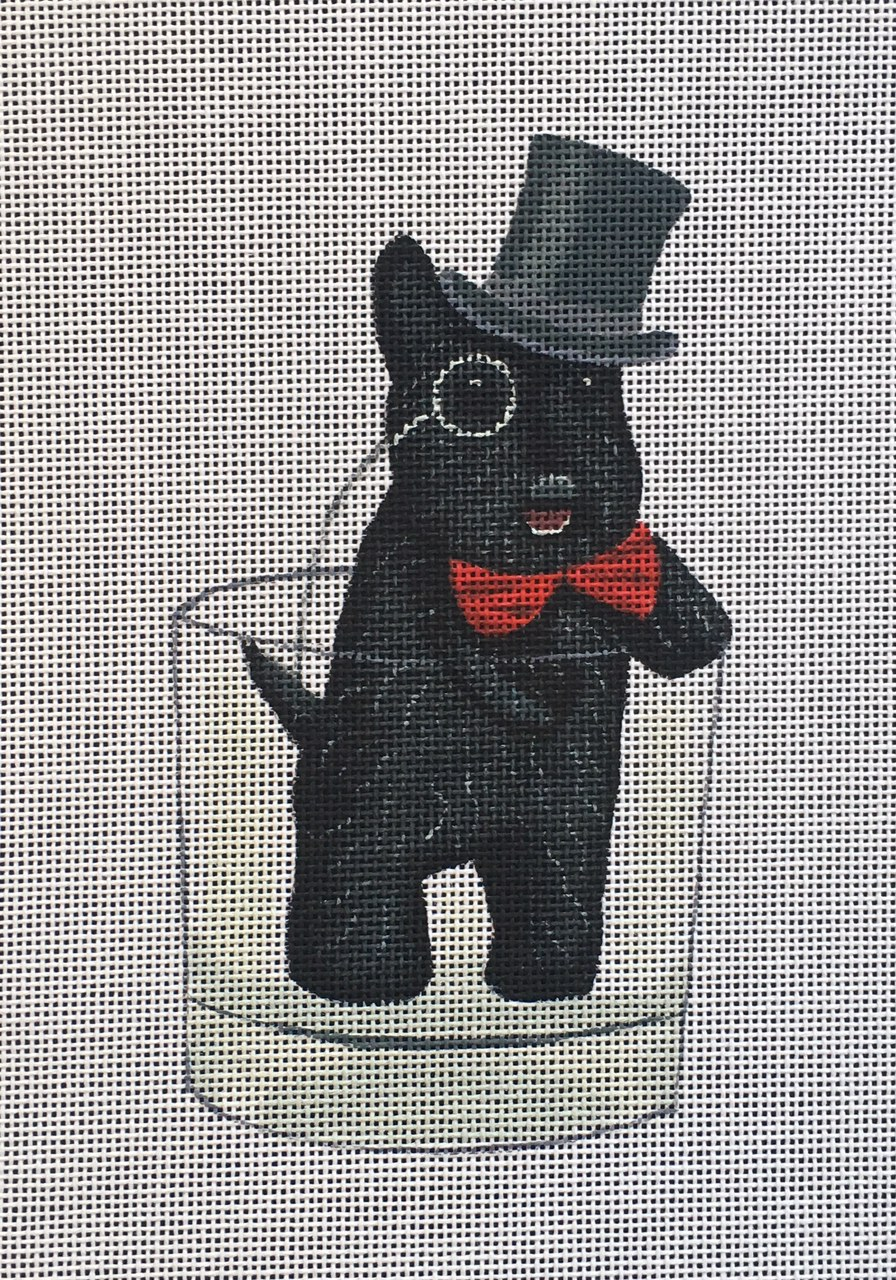 FF-04 Black Scottie in Glass