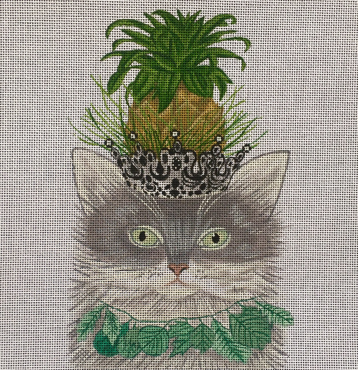 FF-012 Gray Cat with Pineapple